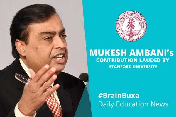 Mukesh Ambani's contribution lauded by Stanford University