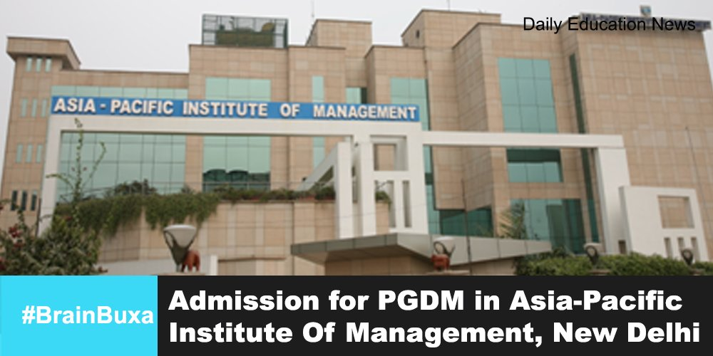 Image of Admission for PGDM in Asia-Pacific Institute Of Management, New Delhi | Education News Photo
