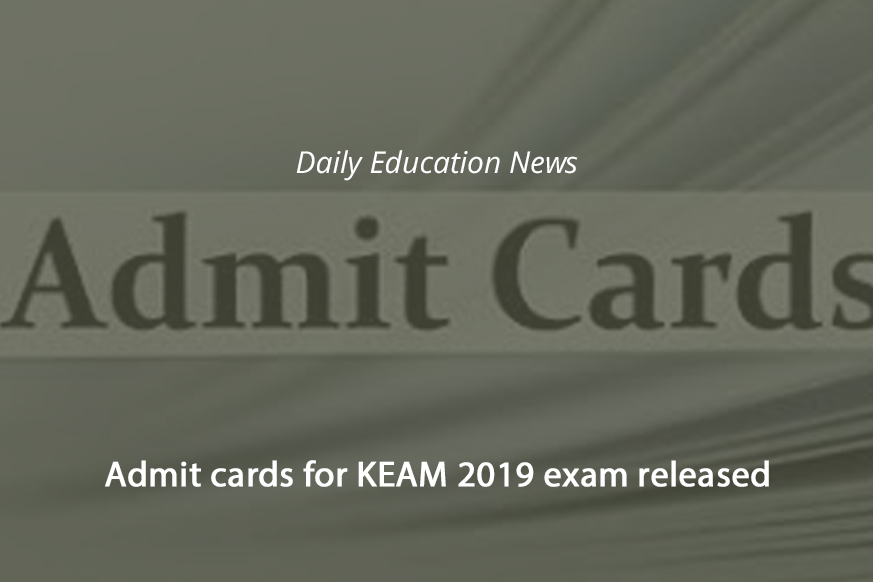 Image of Admit cards for KEAM 2019 exam released   Education News Photo