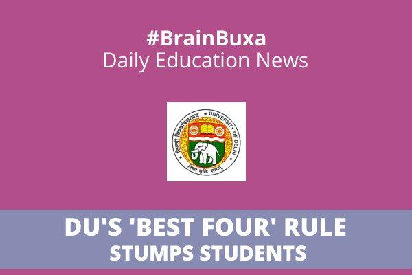 Image of DU's 'best four' rule stumps students | Education News Photo