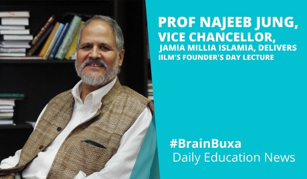 Image of Prof Najeeb Jung, Vice Chancellor, Jamia Millia Islamia, delivers IILM'S Founder's Day Lecture | Education News Photo