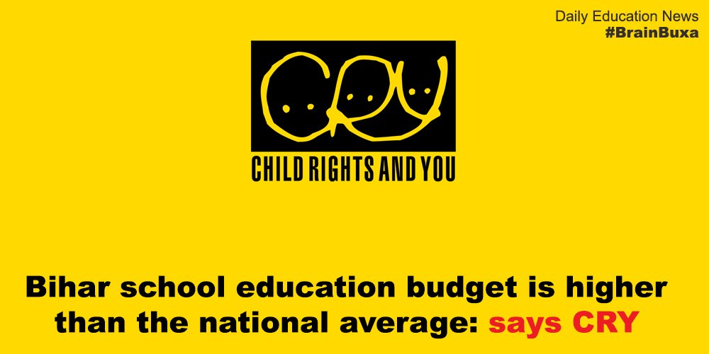 Image of Bihar school education budget is higher than the national average: says CRY   Education News Photo