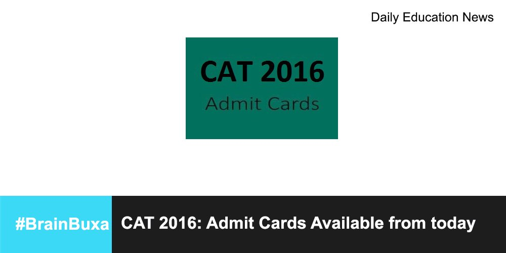 Image of CAT 2016: Admit Cards Available from today  | Education News Photo