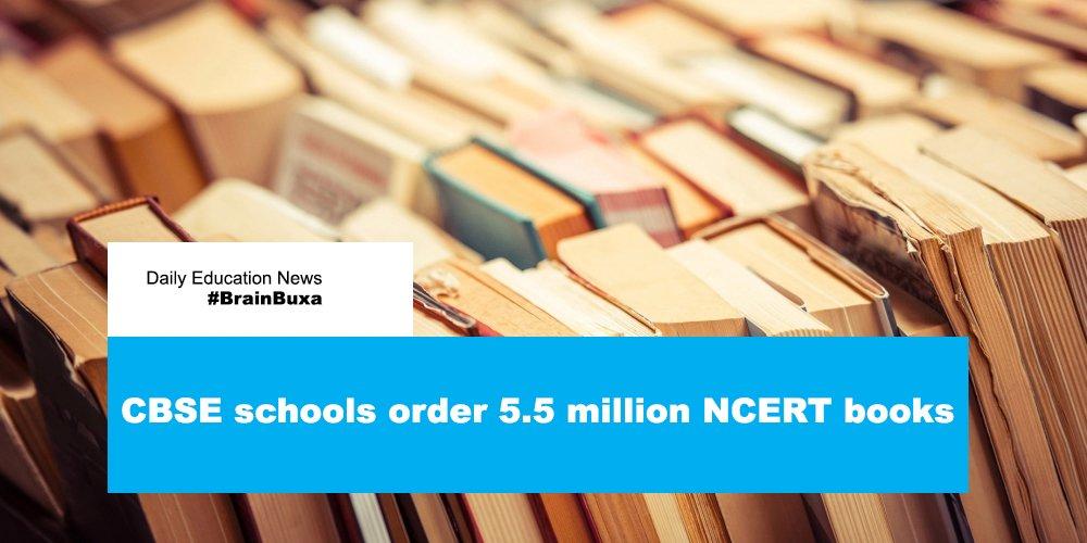 CBSE schools order 5.5 million NCERT books