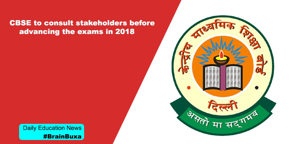 Image of CBSE to consult stakeholders before advancing the exams in 2018 | Education News Photo