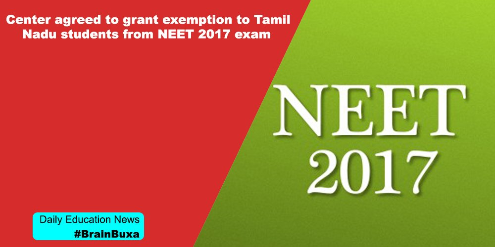 Image of Center agreed to grant exemption to Tamil Nadu students from NEET 2017 exam | Education News Photo