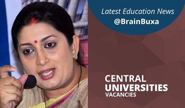 Central Universities Vacancies