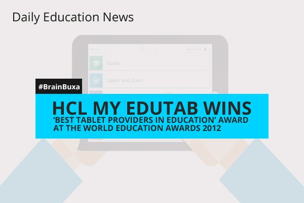 Image of HCL My EduTab Wins 'Best Tablet Providers in Education' Award at the World Education Awards 2012 | Education News Photo