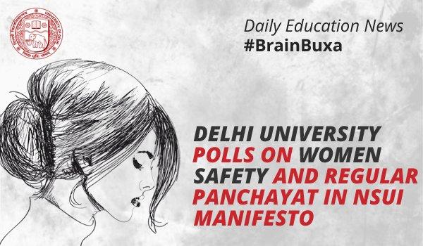 Image of Delhi University polls on women safety and regular Panchayat in NSUI manifesto | Education News Photo