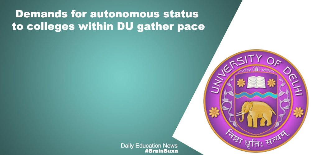 Image of Demands for autonomous status to colleges within DU gather pace | Education News Photo