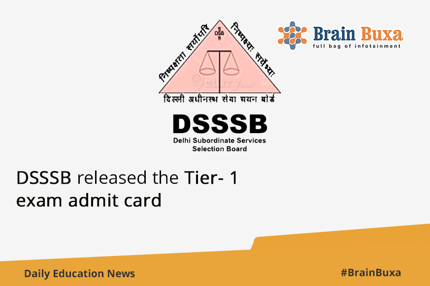 DSSSB released the Tier- 1 exam admit card