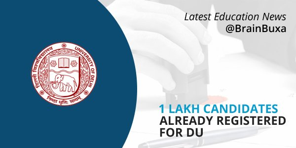 1 lakh candidates already registered for DU
