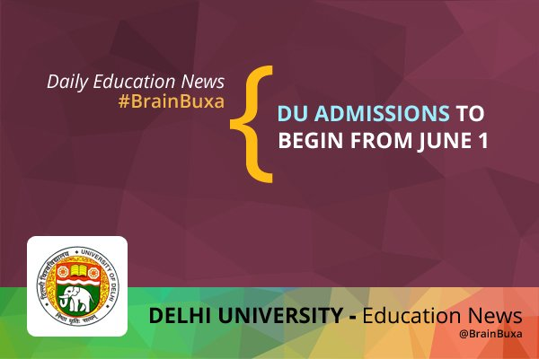 Image of DU admissions to begin from June 1 | Education News Photo