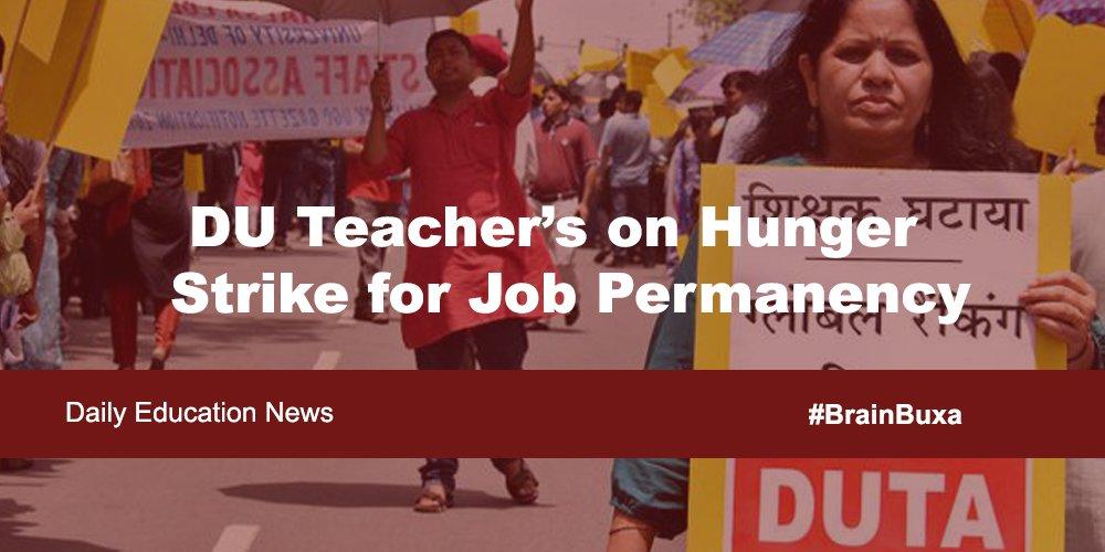 DU Teacher's on Hunger Strike for Job Permanency
