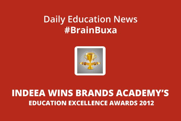 Image of INDEEA wins Brands Academy's Education Excellence Awards 2012 | Education News Photo