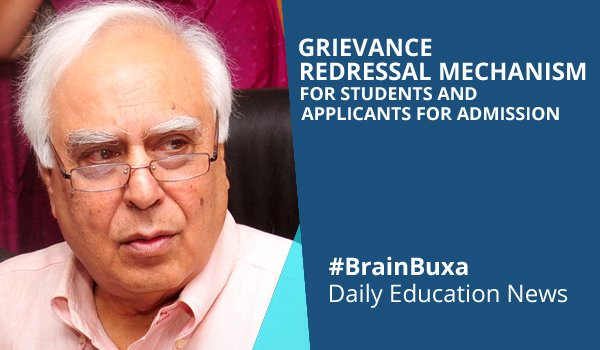 Grievance Redressal Mechanism for Students and Applicants for Admission