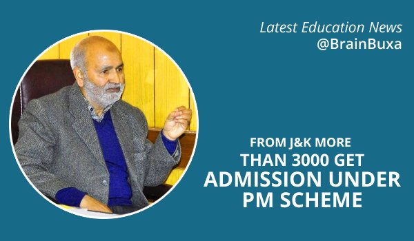 From J&K more than 3000 get Admission under PM Scheme