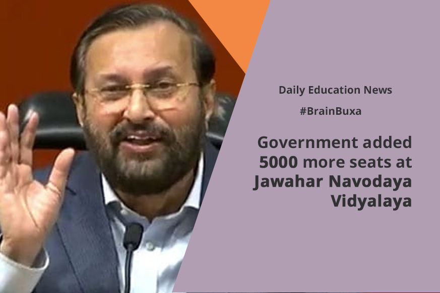 Government added 5000 more seats at Jawahar Navodaya Vidyalaya