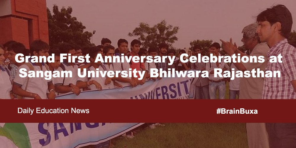 Image of Grand First Anniversary Celebrations at Sangam University Bhilwara Rajasthan | Education News Photo