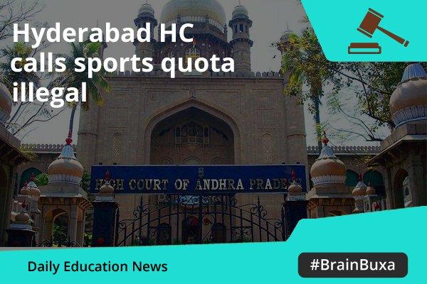 Hyderabad HC calls sports quota illegal