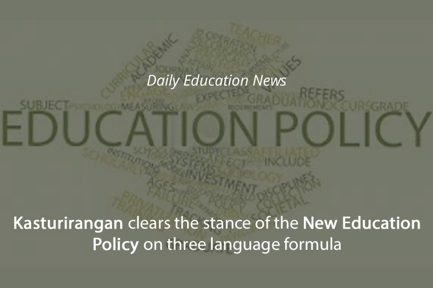 Image of Kasturirangan clears the stance of the New Education Policy on three language formula   Education News Photo