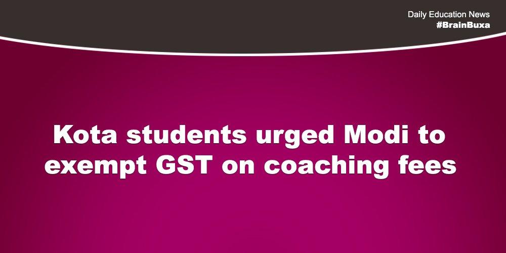 Image of Kota students urged Modi to exempt GST on coaching fees | Education News Photo