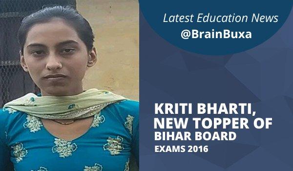 Kriti Bharti, New Topper Of Bihar Board Exams 2016