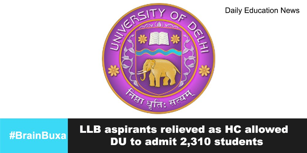 Image of LLB aspirants relieved as HC allowed DU to admit 2,310 students   Education News Photo