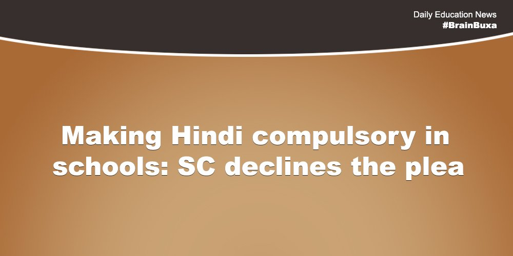 Image of Making Hindi compulsory in schools: SC declines the plea | Education News Photo