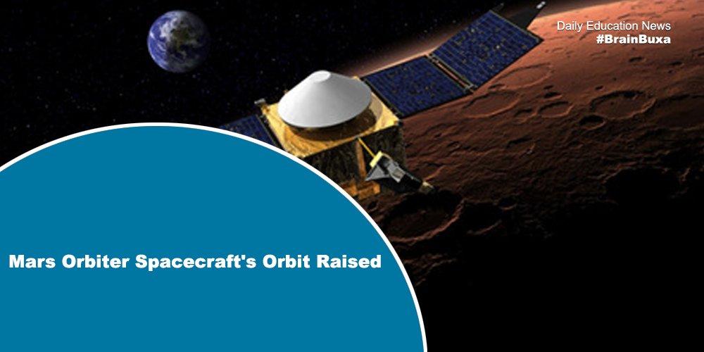 Image of Mars Orbiter Spacecraft's Orbit Raised    Education News Photo