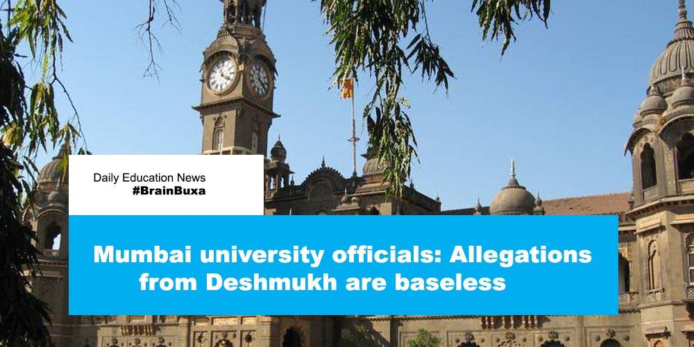 Mumbai university officials: Allegations from Deshmukh are baseless