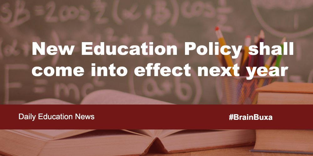 Image of New Education Policy shall come into effect next year | Education News Photo