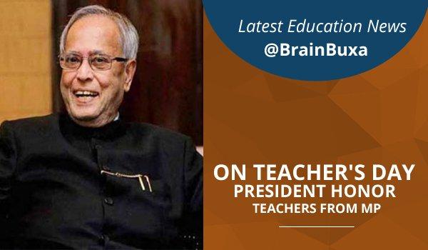 On teacher's day President honor teachers from MP