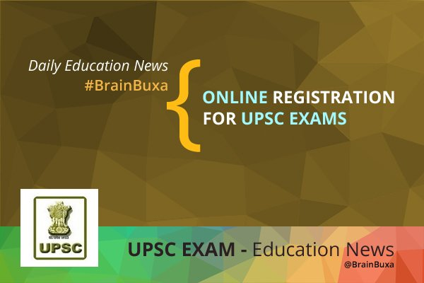 Online registration for UPSC exams