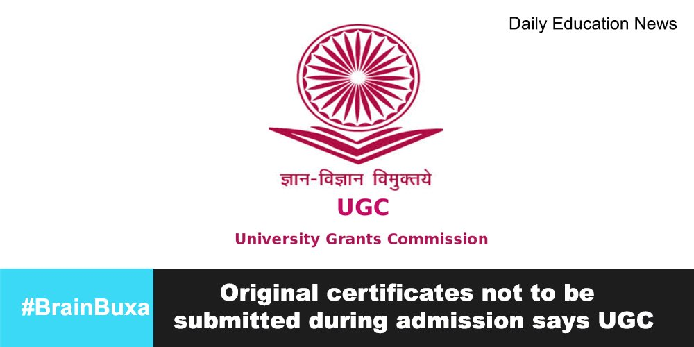 Image of Original certificates not to be submitted during admission says UGC | Education News Photo