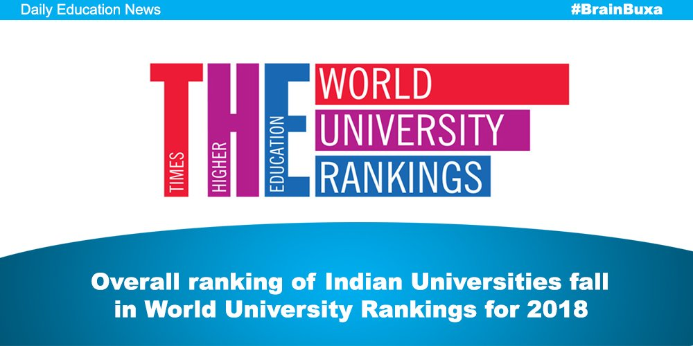 Overall ranking of Indian Universities fall in World University Rankings for 2018