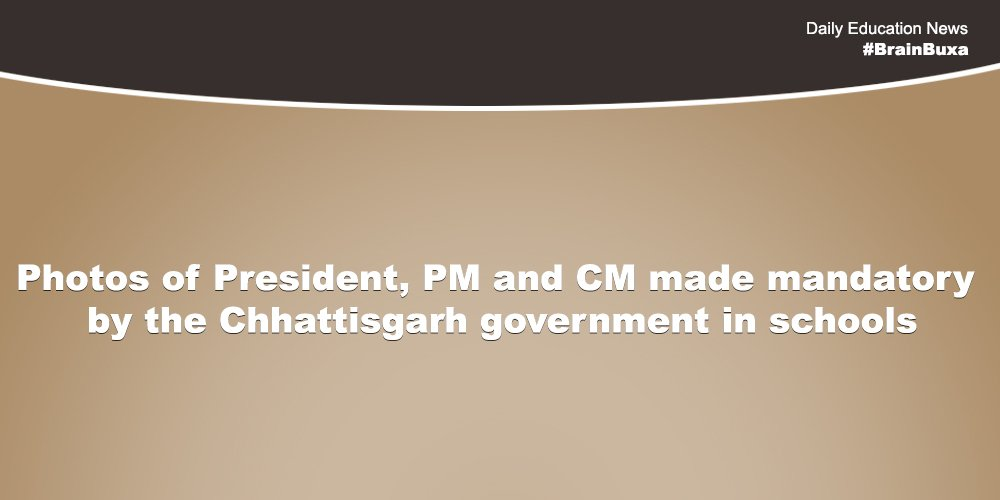 Image of Photos of President, PM and CM made mandatory by the Chhattisgarh government in schools | Education News Photo