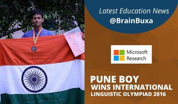 Pune Boy Wins International Linguistic Olympiad 2016