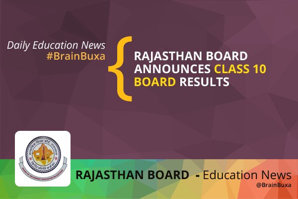 Image of Rajasthan Board announces Class 10 Board results | Education News Photo