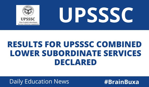 Image of Results for UPSSSC Combined Lower Subordinate Services declared | Education News Photo