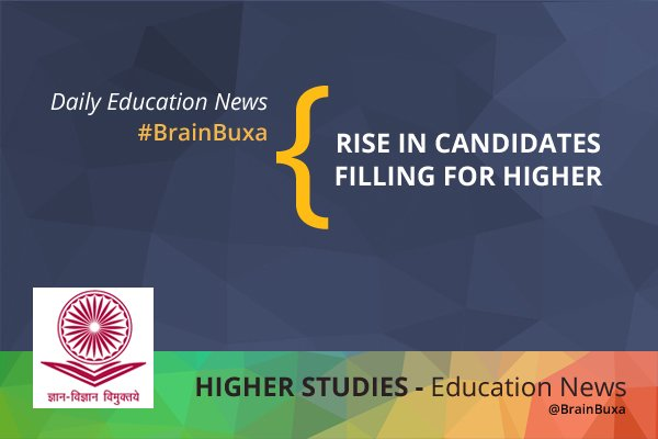 Rise in candidates filing for higher studies