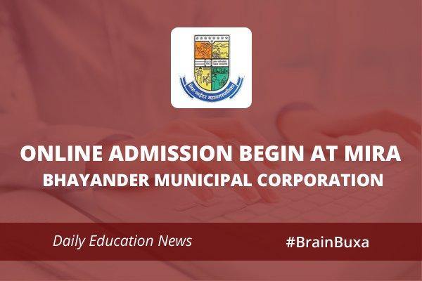 Online Admission begin at Mira Bhayander Municipal Corporation