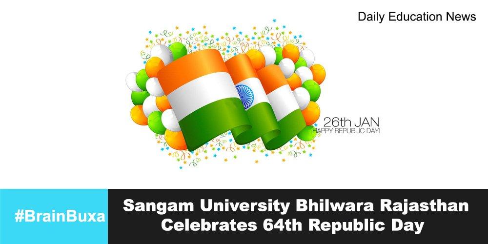 Image of Sangam University Bhilwara Rajasthan Celebrates 64th Republic Day | Education News Photo