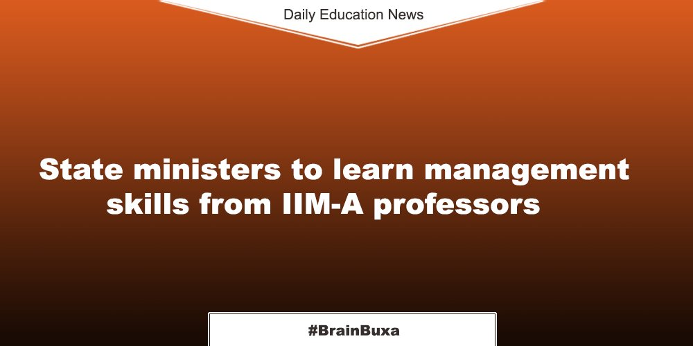 Image of State ministers to learn management skills from IIM-A professors | Education News Photo