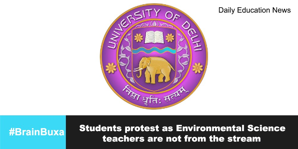 Students protest as Environmental Science teachers are not from the stream