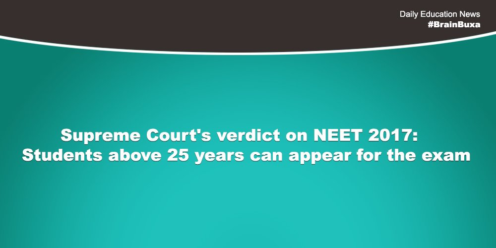 Image of Supreme Court's verdict on NEET 2017: Students above 25 years can appear for the exam | Education News Photo