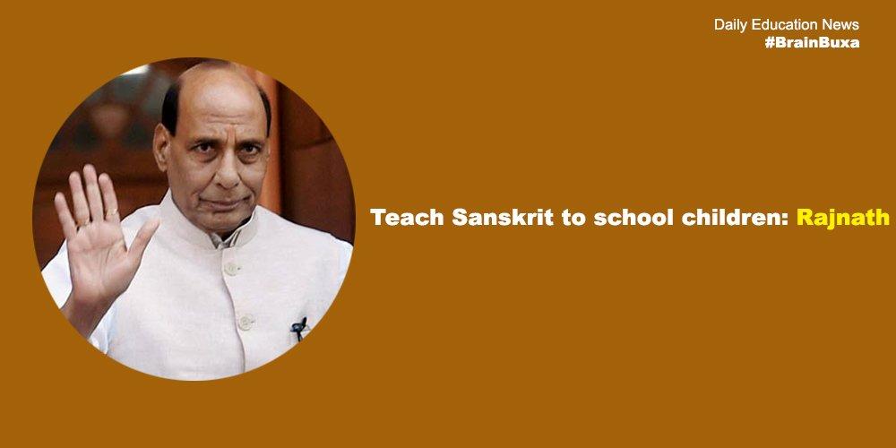 Teach Sanskrit to school children: Rajnath