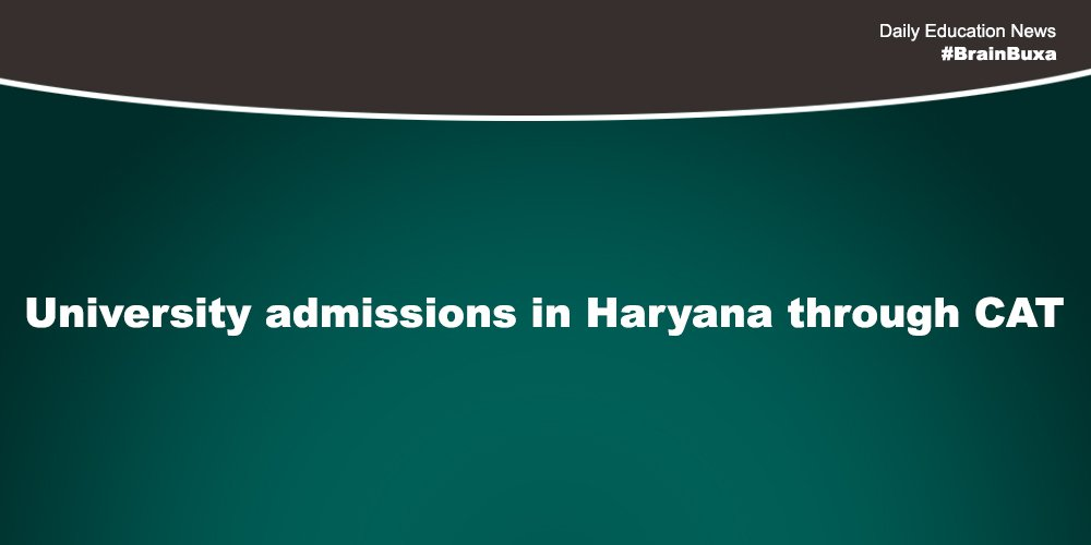 Image of University admissions in Haryana through CAT | Education News Photo