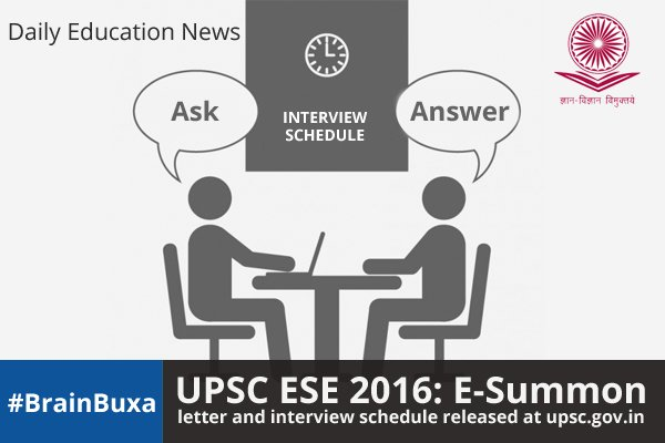 Image of UPSC ESE 2016: E-Summon letter and interview schedule released at upsc.gov.in | Education News Photo