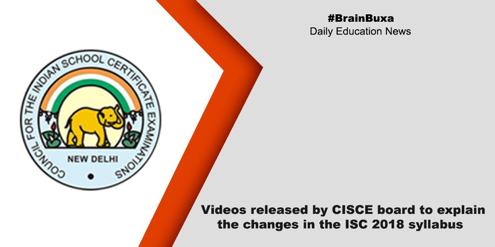 Videos released by CISCE board to explain the changes in the ISC 2018 syllabus